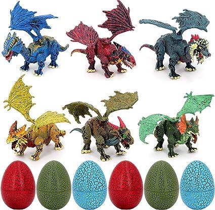 Amazon.com: Coffled - Huevos de dinosaurio, 6 unidades ...