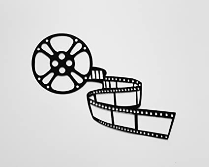 Movie Reel and Film Sign Home Theater Decor Metal Wall Art - Wall ...