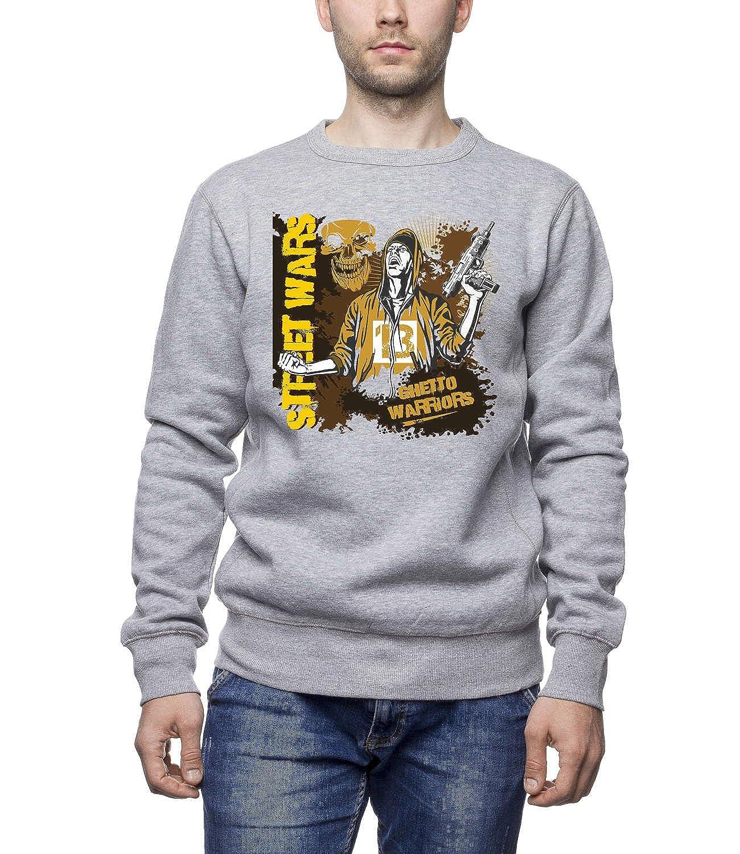 Three Monkeys - Ghetto Warriors Bandit With Gun Men's Unisex Sweatshirt