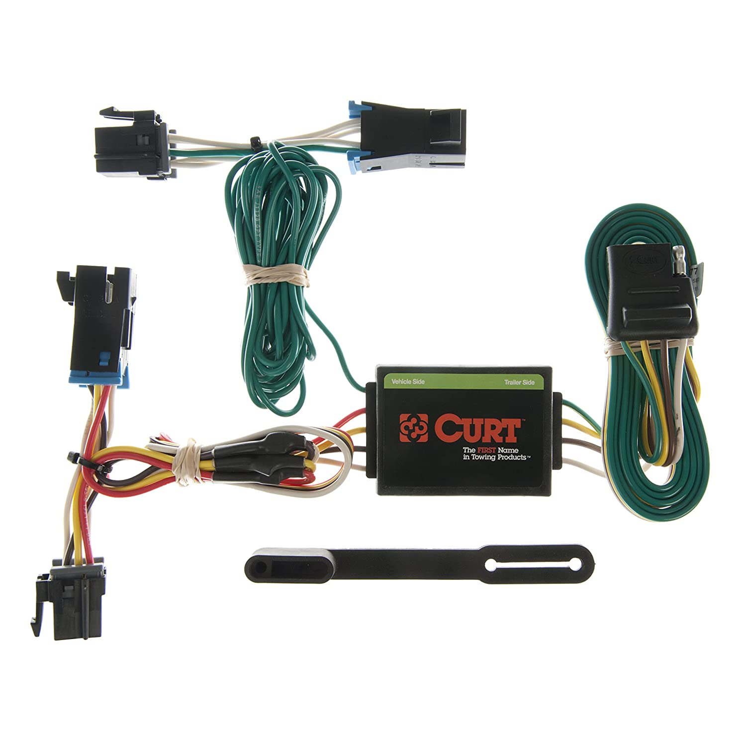 curt 55377 vehicle side custom 4 pin trailer wiring harness for select chevrolet express, gmc savana Lincoln Navigator Trailer Wiring