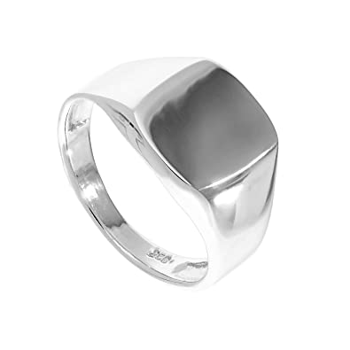 Sterling Silver Engravable Mens & Womens Signet Ring Size J - Z+1 T58kkVgg