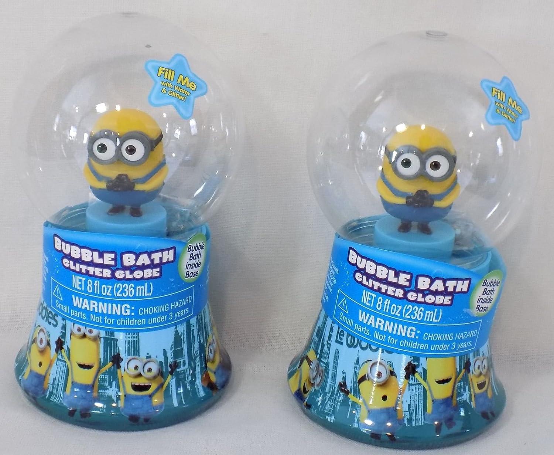 Amazon.com : (2) Minions Bubble Bath Glitter Globes : Beauty