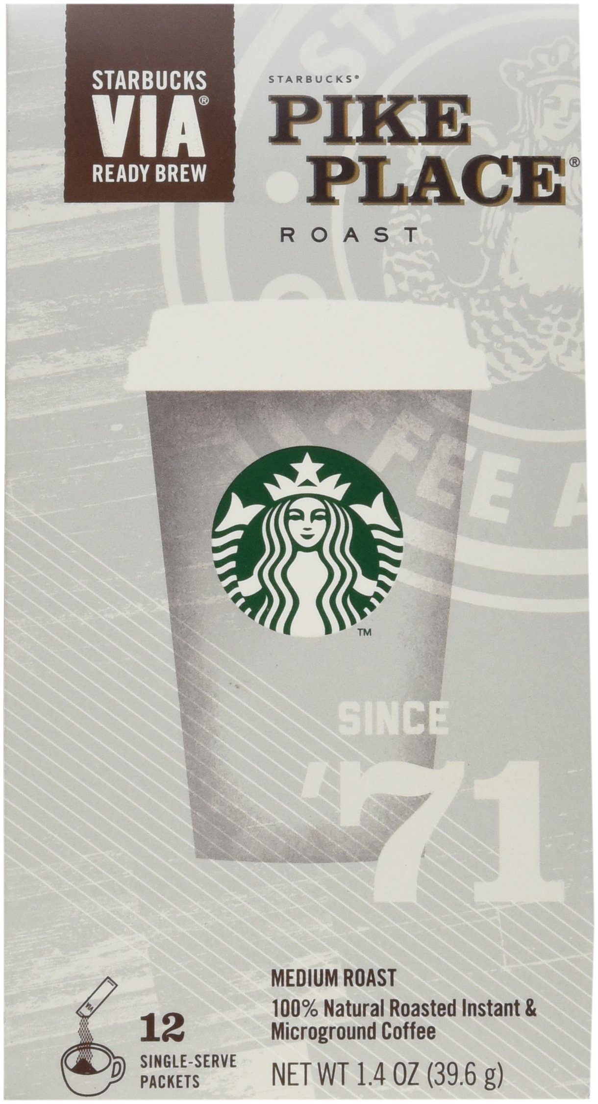 Starbucks VIA Instant Pike Place - 60 Single Packets (5 Packs) by Starbucks