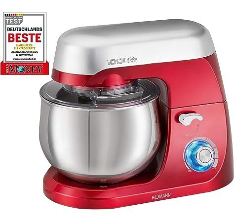 Klarstein TK2-Mix8-R Bella Rossa - Robot de cocina, 1200W, 5L, color rojo: Amazon.es: Hogar
