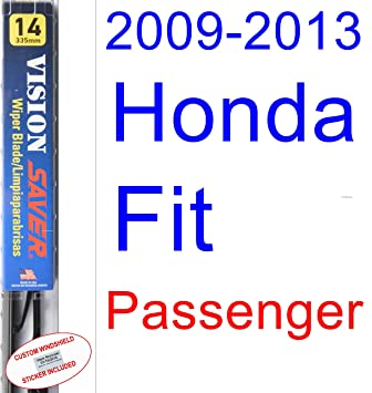 Amazon.com: 2009-2013 Honda Fit Wiper Blade (Passenger) (Saver Automotive Products-Vision Saver) (2010,2011,2012): Automotive