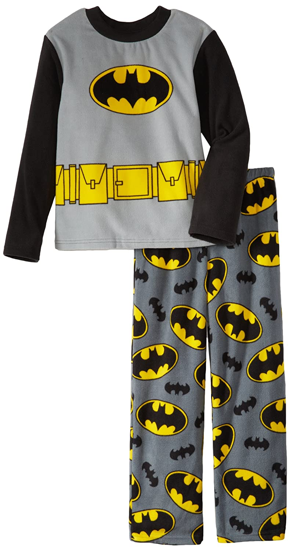 Batman Big Boys' 2 Piece Fleece Pajama Set AME Sleepwear Girls 2-6x 21BM100LLBFAZ