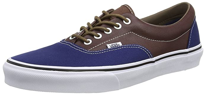 Vans Era Unisex-Erwachsene Low-Top Sneakers Braun Blau