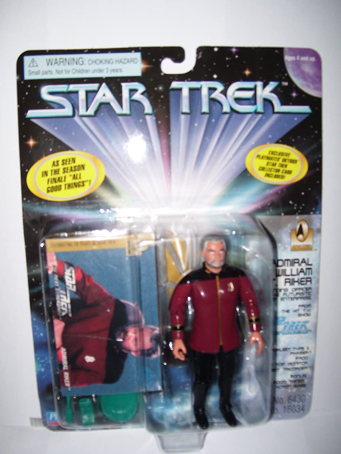 4.5 Admiral William T. Riker, Commanding Officer of the Futuristic Starship Enterprise As Seen in the Series Finale All Good Things - Star Trek: The Next Generation
