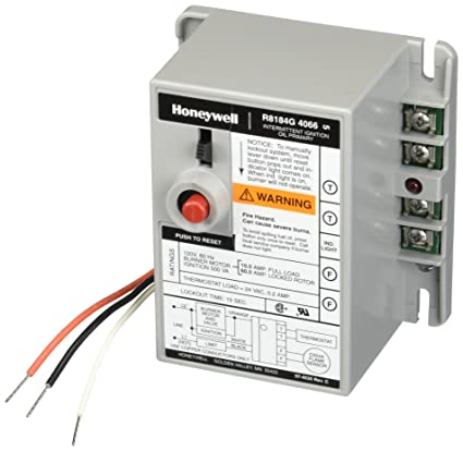 honeywell r8184g-4066 protectorelay oil burner control with 15 s safety  timing, alarm outputs and manual safety switch - hvac controls - amazon com