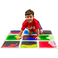 """Art3d Liquid Fusion Activity Play Centers for Children, Toddler, Teens, 12"""" X 12"""" Pack of 9 Tiles in Different Color"""