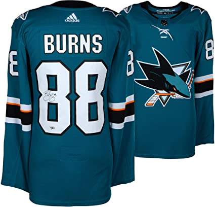 Brent Burns San Jose Sharks Autographed Teal Adidas Authentic Jersey -  Fanatics Authentic Certified - Autographed 70862c8b4e6