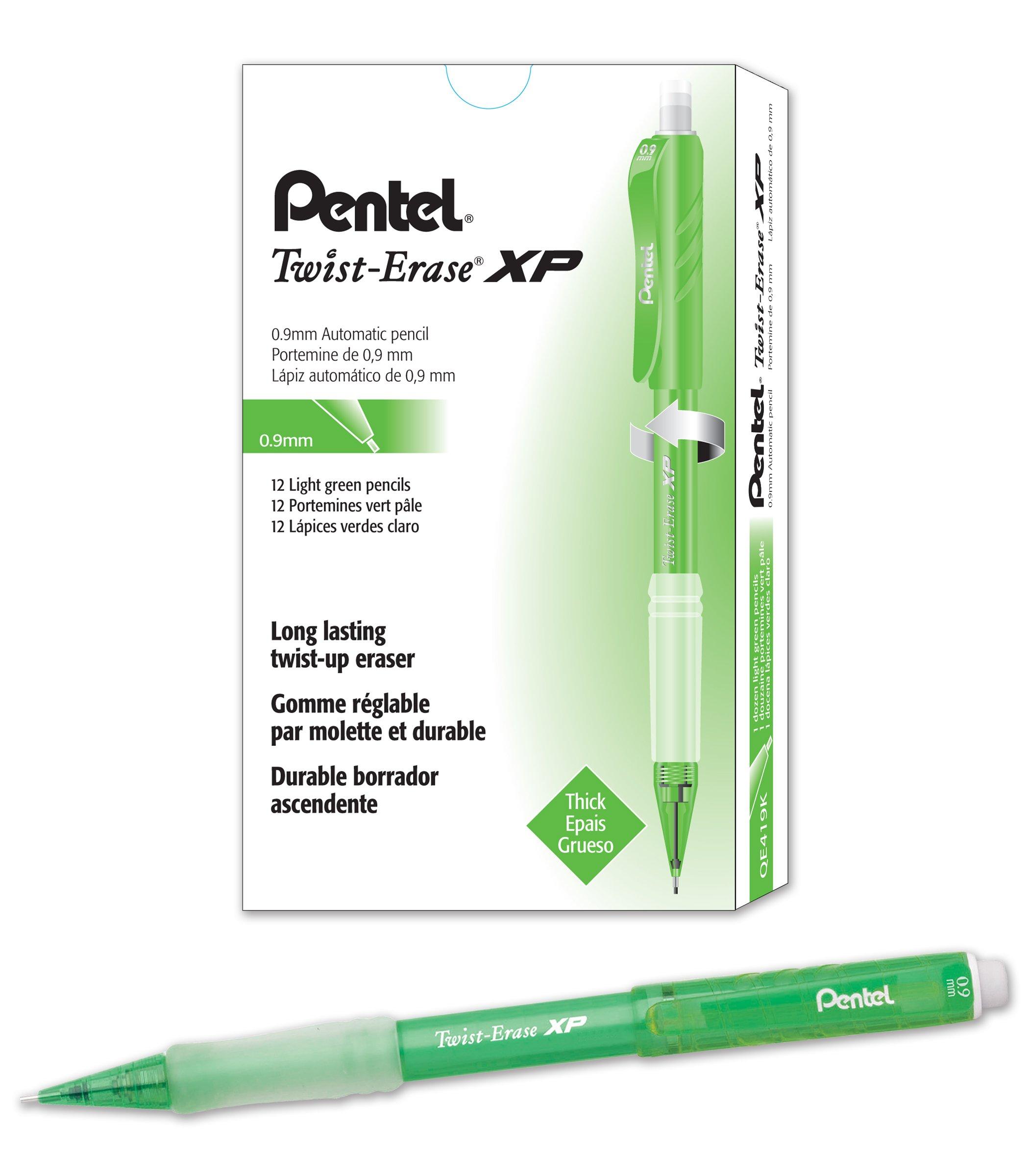 12 x Pentel QE419K 12pieza(s) - Lápiz mecánico (Verde, Gris)