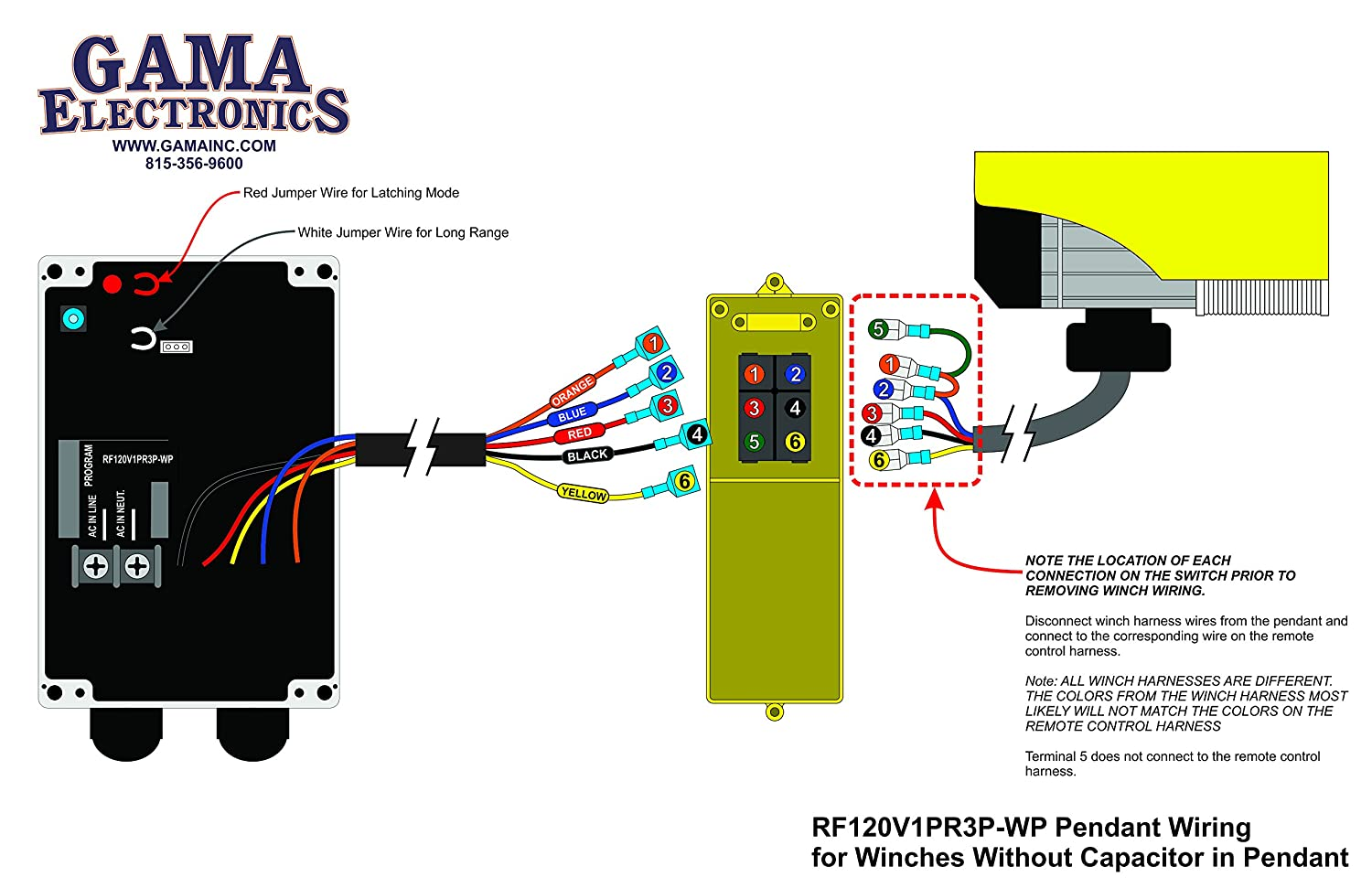 RF Remote Control for 120VAC Pendant Controlled Hoists and Winches:  Amazon.com: Industrial & Scientific