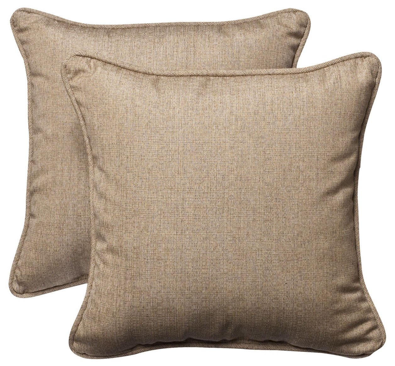 Hospitality Rattan 606-9203-OTP Large Outdoor Throw Pillows, Set of 2, 22'' x 22'', Sunbrella Canvas Spa