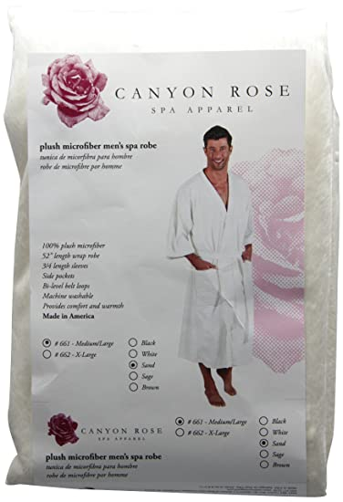 9504d018e5 Image Unavailable. Image not available for. Color: Canyon Rose Cloud 9  Men's Plush Microfiber Spa Robe ...