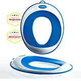 Toilet Training Seat - Kids Toilet Trainer Ring for Boys or Girls | Secure Non-Slip Surface - FREE Suction Cup Storage Hook