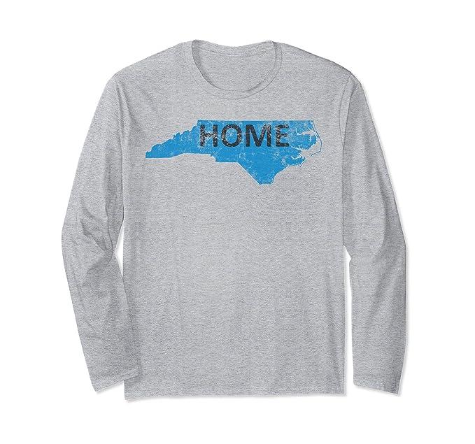 dfcdfd42 Amazon.com: Home - North Carolina Panther Blue & Black Long Sleeve Tee:  Clothing