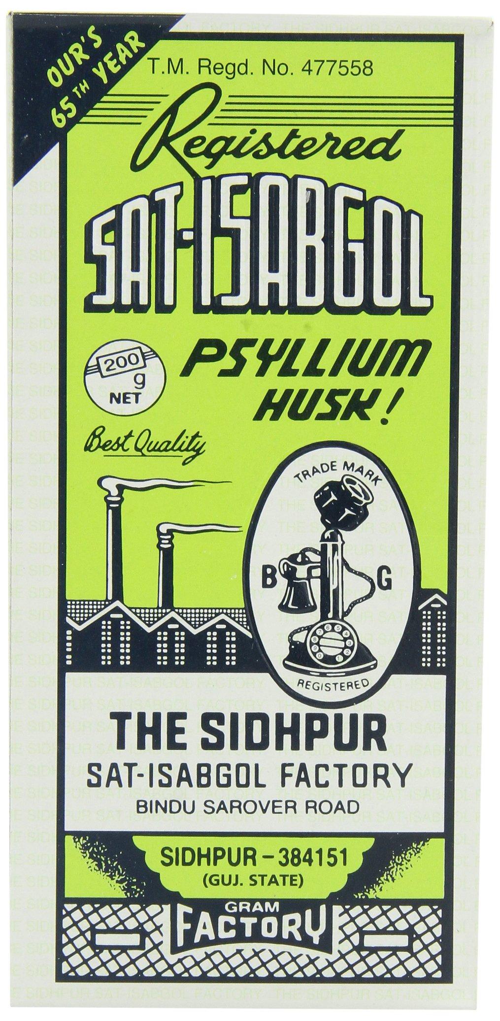 Telephone Sat-isabgol (psyllium Husk), 200-Gram Boxes (Pack of 5) by Telephone