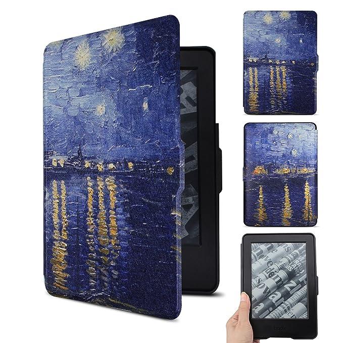 ... Pintura colorida de la SmartShell - La cubierta más delgada y liviana de cuero para Amazon Kindle (con 6