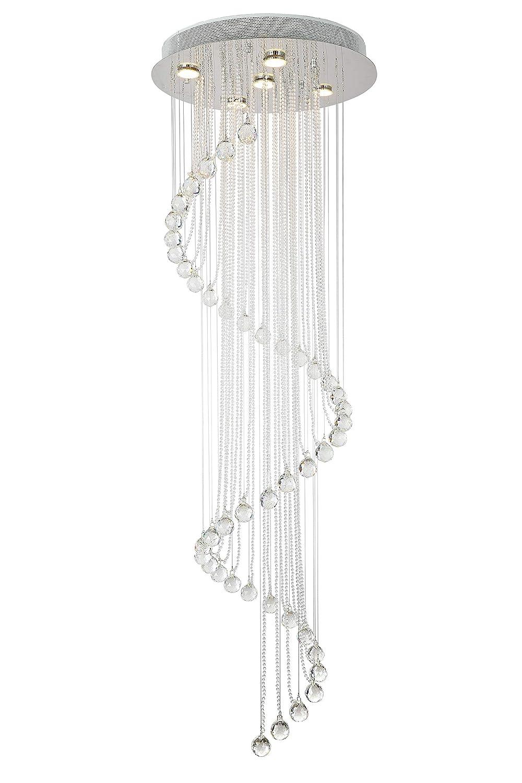 XL 1,5m lange Design Kronleuchter Kristall Hängeleuchte Deckenleuchte mit K9 Glaskristallen Pendelleuchte Lüster Ø50cm