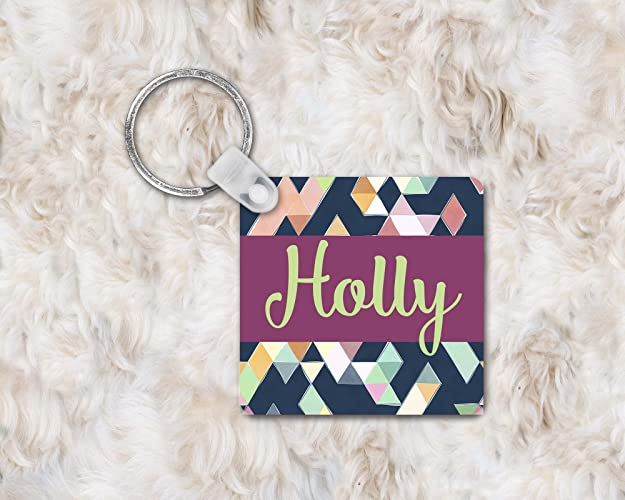 Amazon com: Abstract Keychain, Personalized Keychain for Her