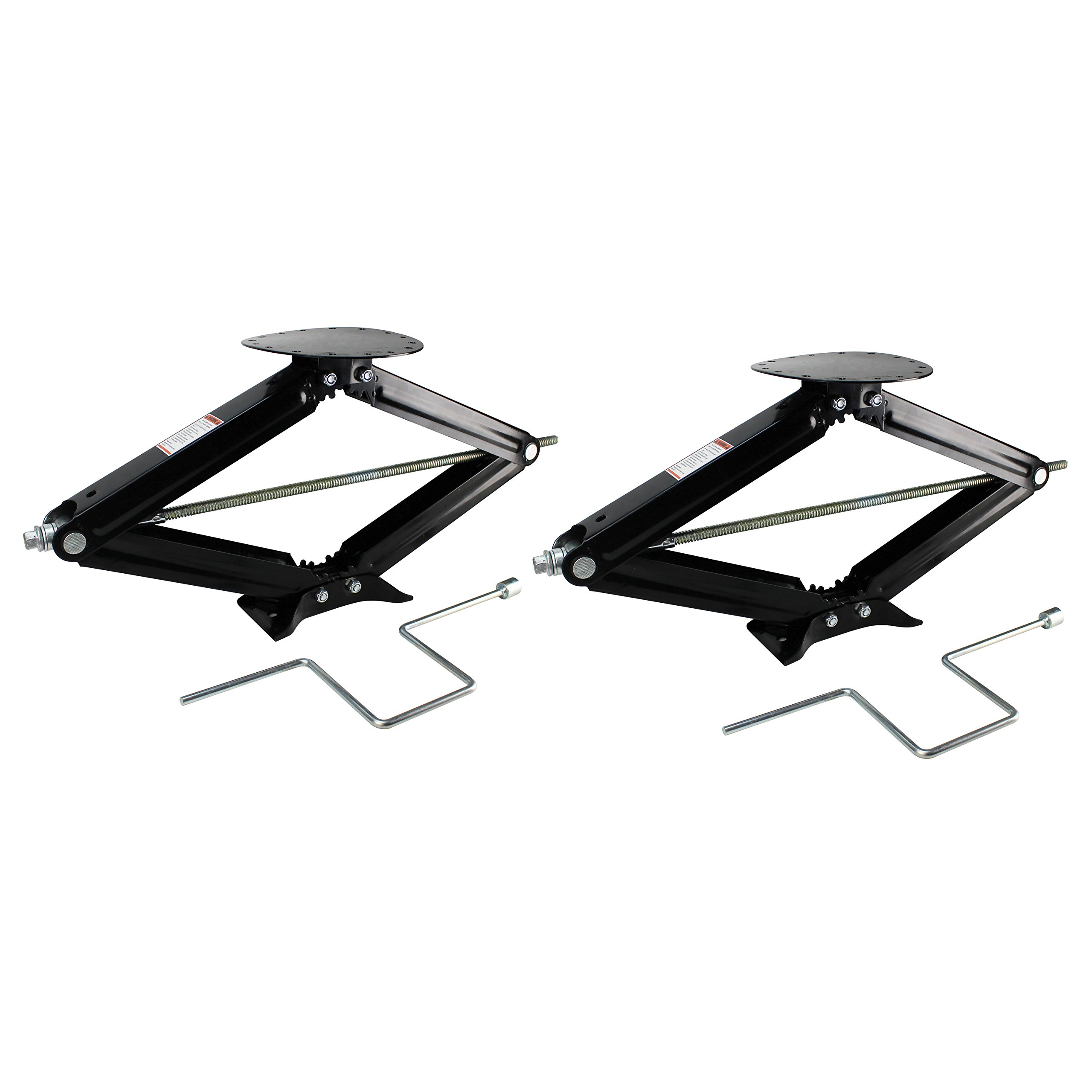 Quick Products QP-RVJ-S30-2PK Stabilizing and Leveling Scissor Jack, 5,000 lb. Max, 30'', 2 Pack