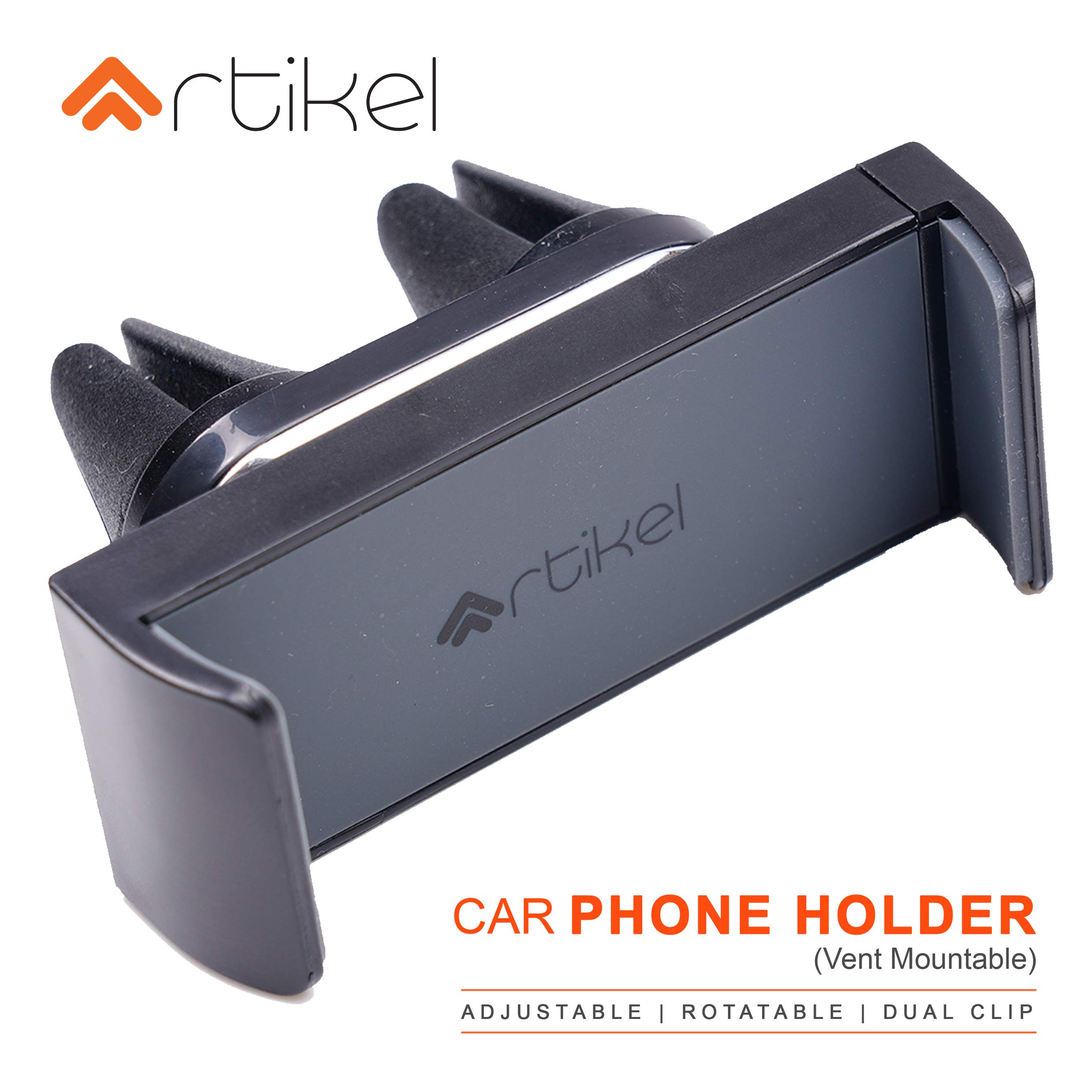 Black Car Air Vent Mount Holder Smart Grip Phone Mount Universal Smartphone Kickstand up to 5.5 Length Mounts on top of Your Monitor or Laptop