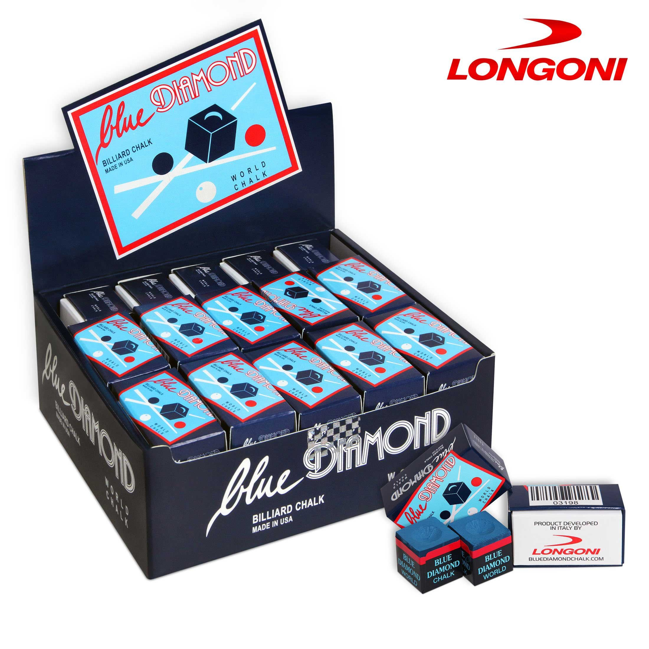 BLUE DIAMOND CHALK - GENUINE - 50 pcs - 1 case - by Longoni by Blue Diamond
