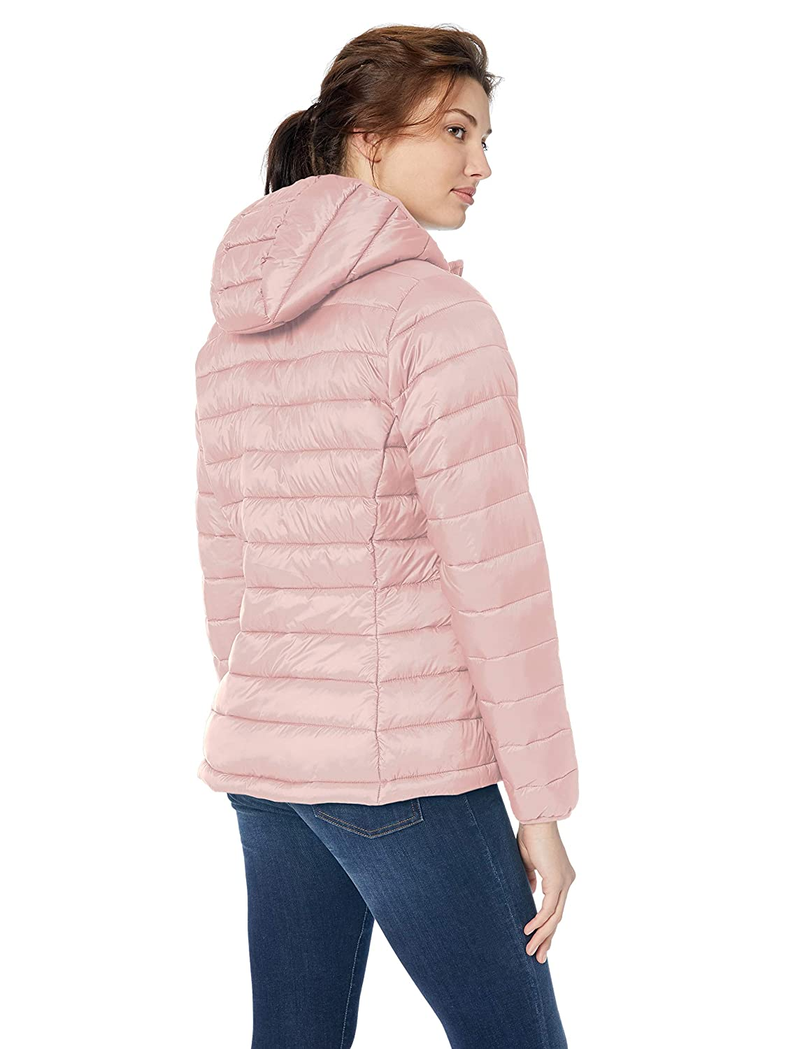 Essentials Lightweight Water-Resistant Packable Hooded Puffer Jacket Giubbotto