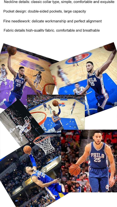 Completo Basket VQZN Simmons 25 Adatto per Abito Bambino Philadelphia 76ers,Tuta da Allenamento per Basket Giovanile,Camicia Basket Unisex per Abbigliamento Sportivo da Competizione.