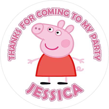 Pegatinas de cumpleaños de Peppa Pig personalizadas ...
