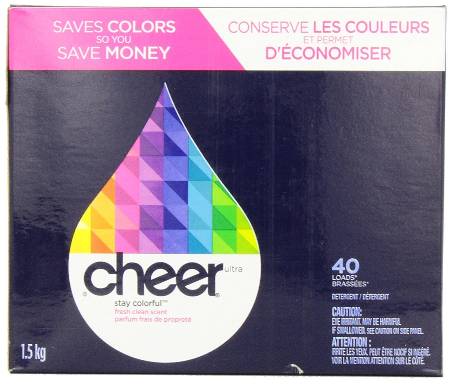 2 Pk. Cheer Powder Detergent Fresh Clean Scent 40 Loads 56 Oz (80 Loads Total)