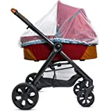 Baby Mosquito Net for Stroller, Carrier & Bassinet – Elastic Drawstring for Snug Fit Protection - Infant Bug Cover for Jogger, Car Seat & Pack N Play – 1000 Mesh Toddler Shield Canopy & Gift Packaging