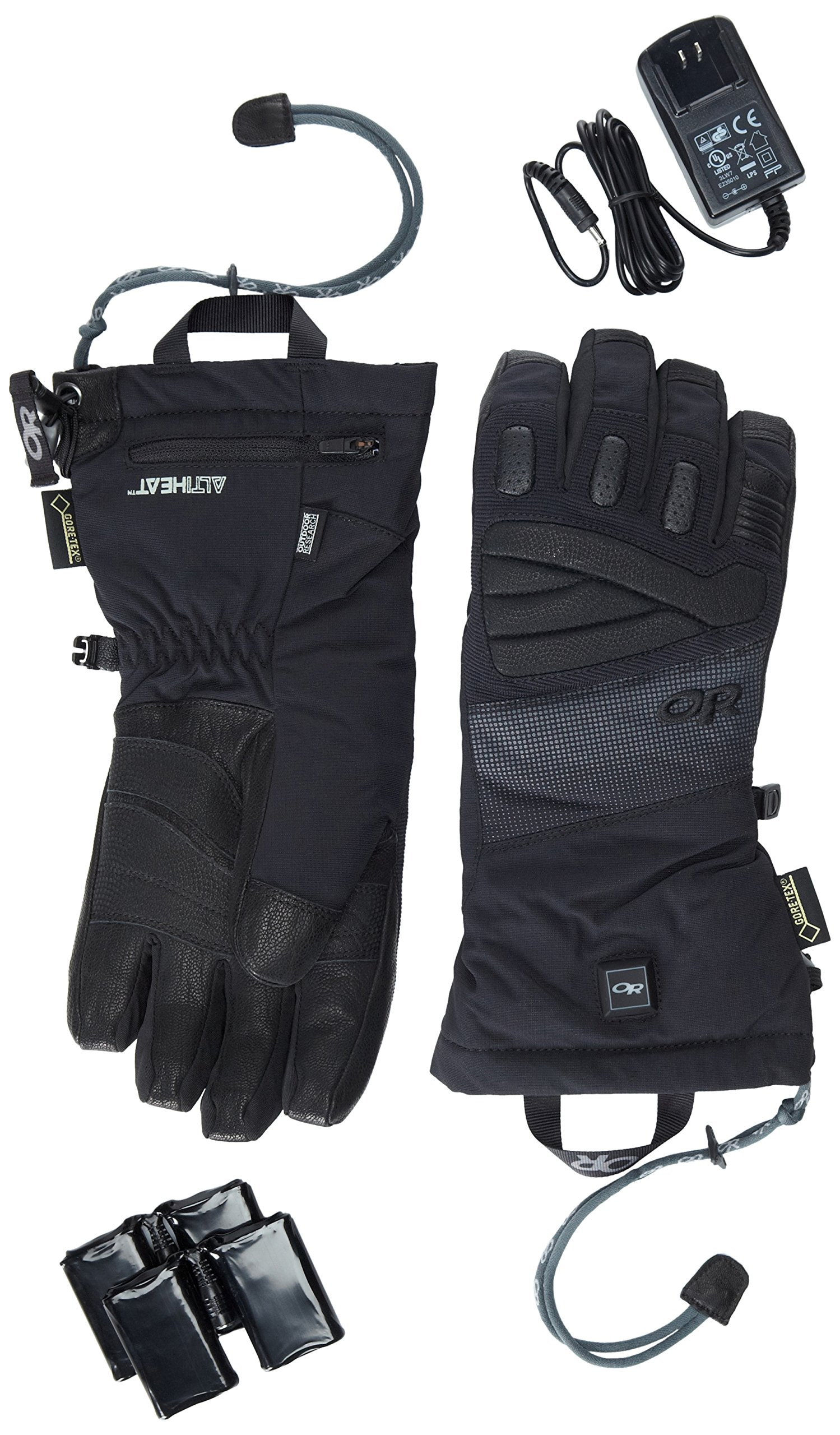 Outdoor Research Lucent Heated Gloves, Black, X-Small by Outdoor Research