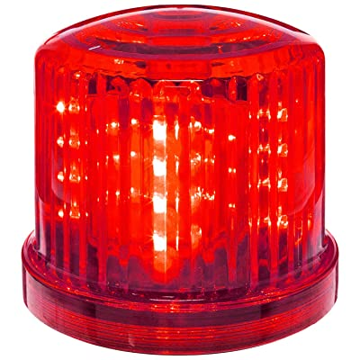 """Fortune Products PL-300RJ PL-300BJ Battery Powered Ultra Bright Red Police LED Safety & Emergency Beacon Light w/Magnetic Bottom, 6"""" Diameter x 5"""" Height: Industrial & Scientific"""