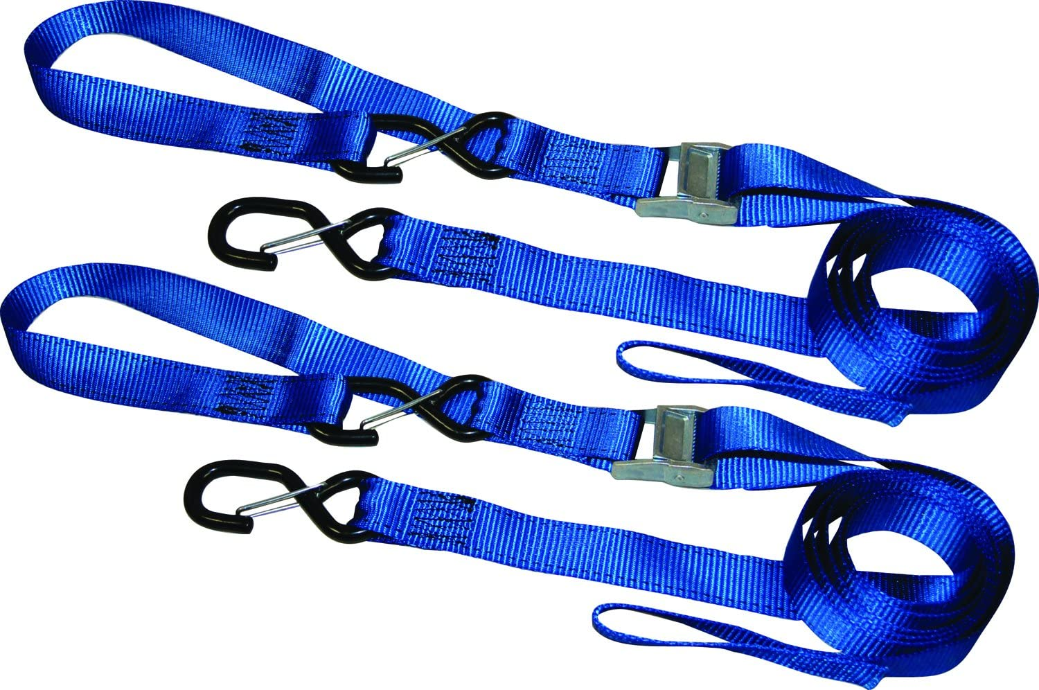 """4x Heavy-Duty 1.25/"""" x 10-Ft Ratchet Ratcheting Tie-Down Hook Cargo-Straps 4-Pack"""
