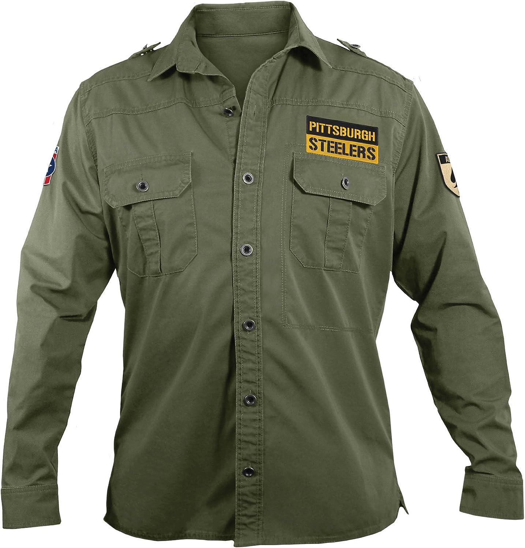 NFL Mens Militar Campo camisa - 300647-STLR-M, Medium, Verde(Military Green): Amazon.es: Deportes y aire libre