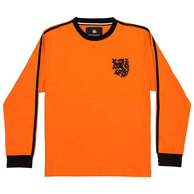 Coolligan - Camiseta de Fútbol Retro 1978 Holland - Color - Naranja - Talla - XXL