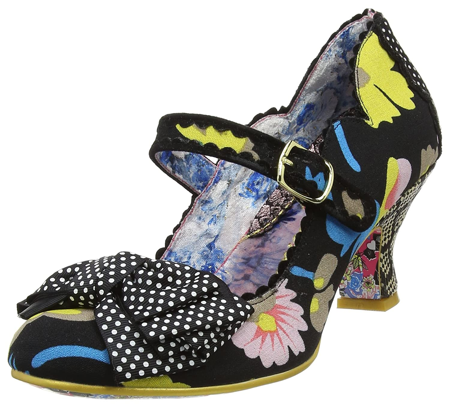 Irregular Choice Balmy Nights, Merceditas para Mujer 37 EU|Negro (Black B)