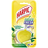 Harpic Nature Fresh Toilet Block, Citrus & Grapefruit Splash, 40g