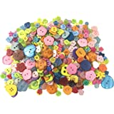 500 Pieces Assorted Buttons for Arts & Crafts, Decoration, Collections, Sewing, Different Color and Style For Crafts Resin Round Buttons Craft Buttons Favorite Findings Basic Buttons