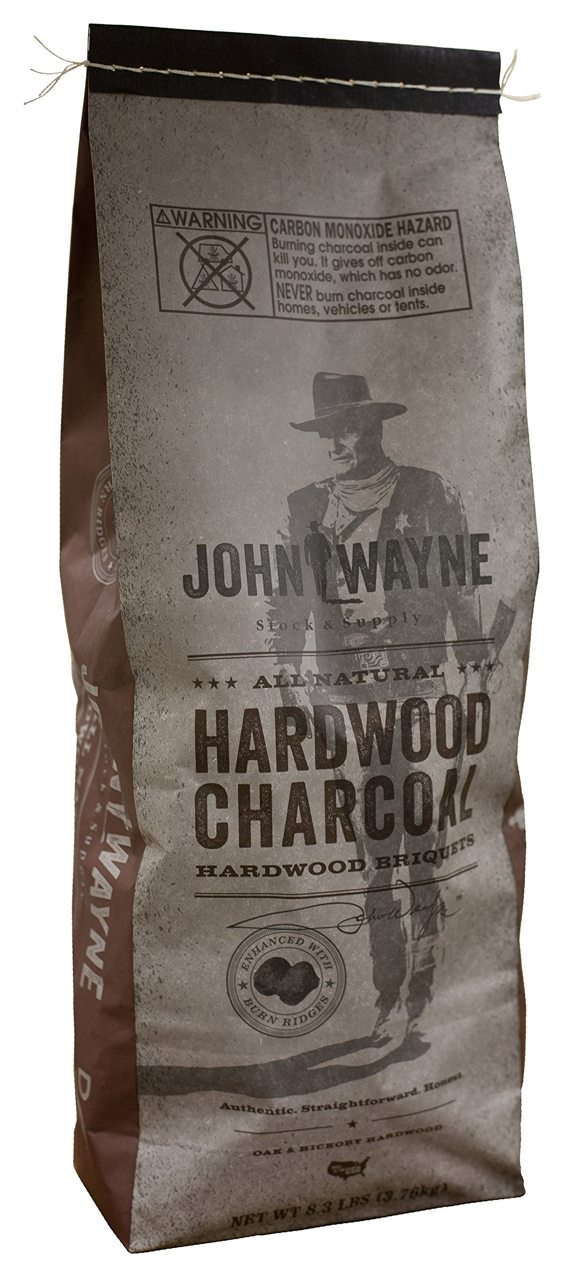 Fire & Flavor ''John Wayne'' Charcoal Hardwood Briquets 8.3lbs, Pack of 6