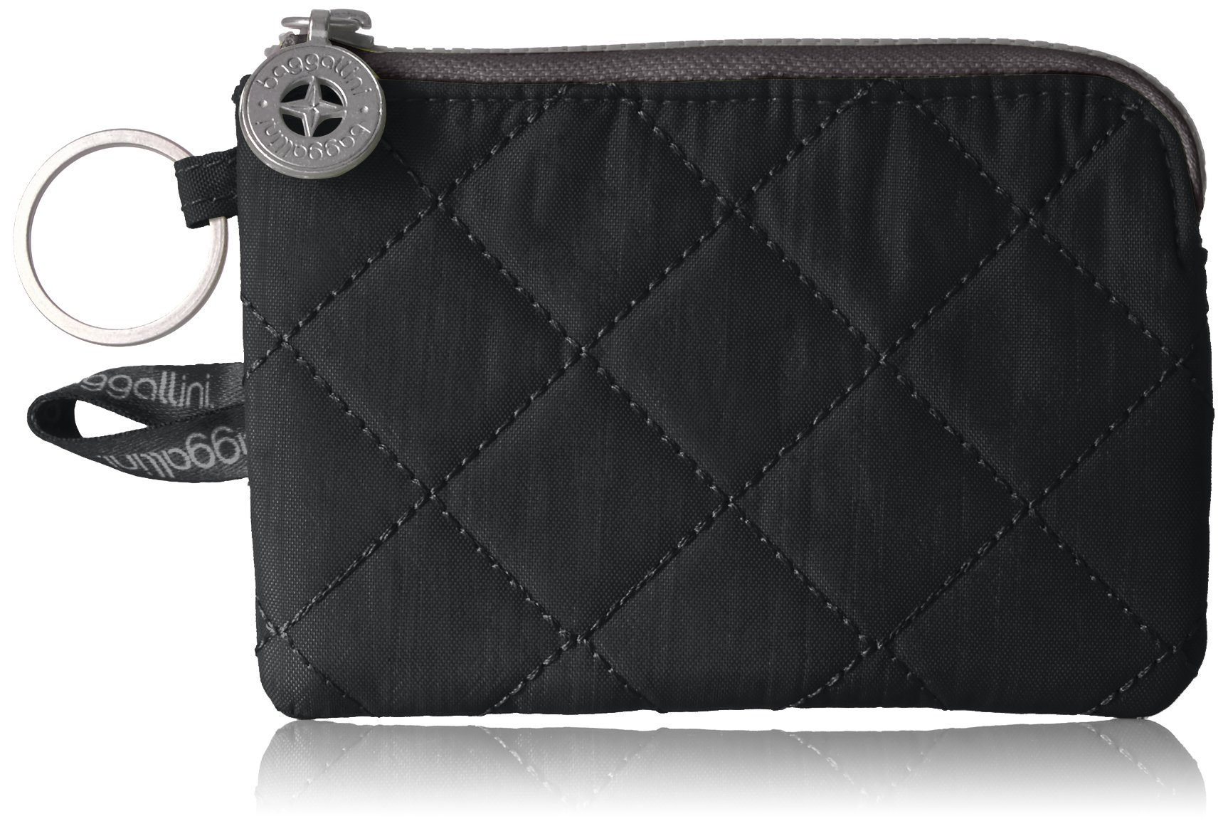 Baggallini Women's Rfid Card Case, Black/Charcoal, One Size