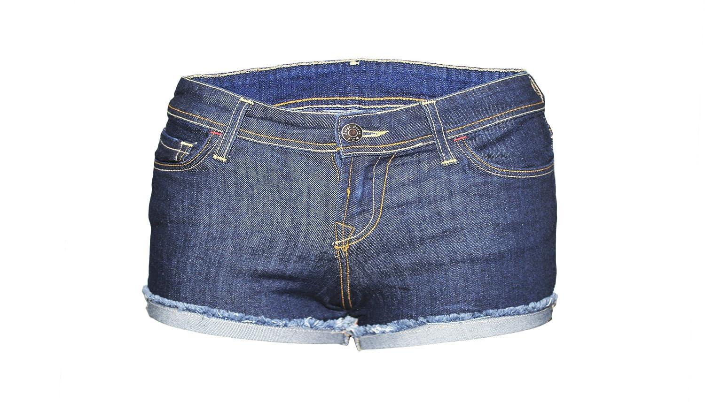 Women's Indigo Denim Shorts Folded Hem