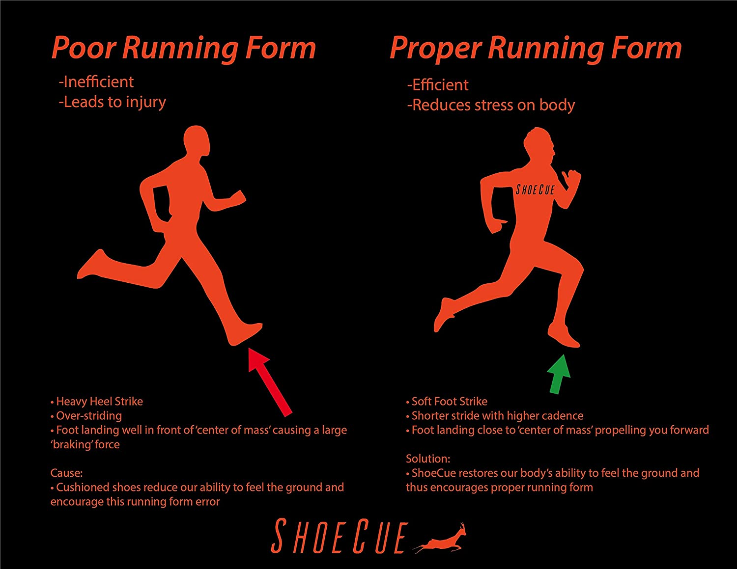 Amazon com: ShoeCue: Athletic Shoe Inserts for Running - S