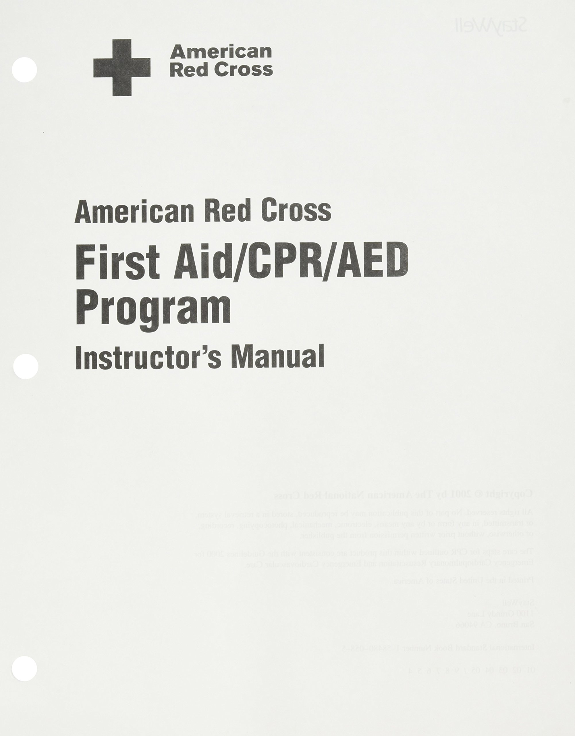 First aid cpr aed program instructors manual american red first aid cpr aed program instructors manual american red cross american red cross 9781584800583 amazon books xflitez Image collections