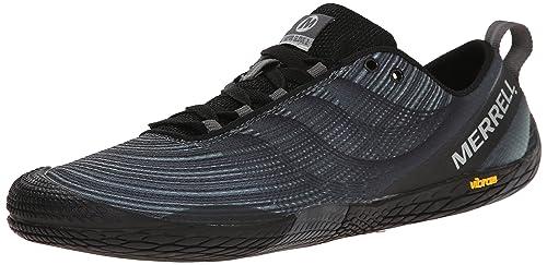 Merrell Men's Vapor Glove 2 Trail Running Shoe, Black/Castle Rock, 7 M US