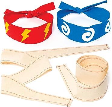 Amazon.com: Ninja de tela Diademas para niños para pintar ...