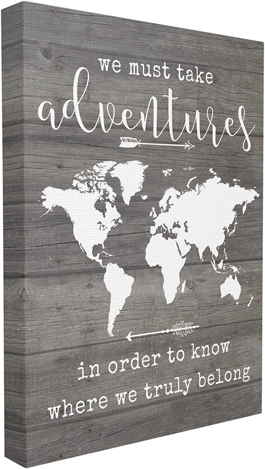 The Stupell Home Decor Collection Take Adventures Map Stretched Canvas Wall Art, 16 x 20, Multicolor