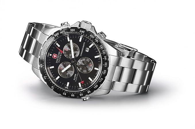 6e4ed423733e Hanowa Swiss Military Navigator Reloj para hombres Alarma  Amazon.es   Relojes